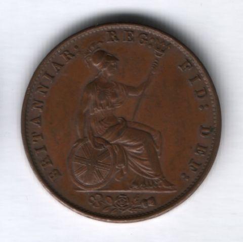 1/2 пенни 1858 года Великобритания AUNC