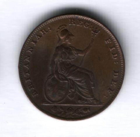 1 фартинг 1854 года Великобритания UNC