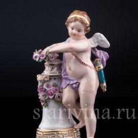 Ангелочек с девизом, Meissen, Германия, сер.19-нач.20 в.