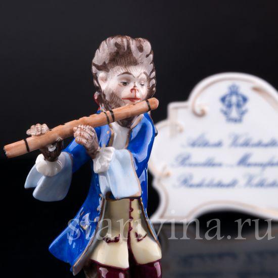Обезьяний оркестр, флейтист, Volkstedt, Германия, вт. пол. 20 в.