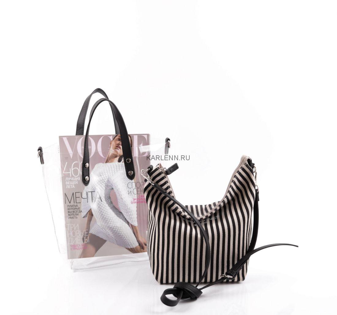 Прозрачная силиконовая сумка David Jones (чёрная)