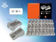 Точилка одинарная алюминиевая, стальное лезвие (арт. TZ 40-1)