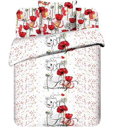"""Подростковое постельное белье """"Очаровательная Мари"""", 1.5сп, бязь, рис.5764."""