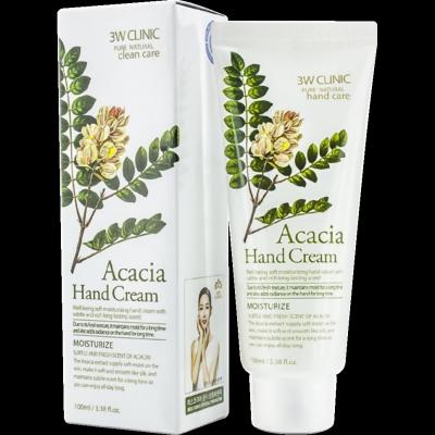 3W Clinic Moisturizing Hand Cream Acacia Увлажняющий крем для рук с экстрактом акации 100мл