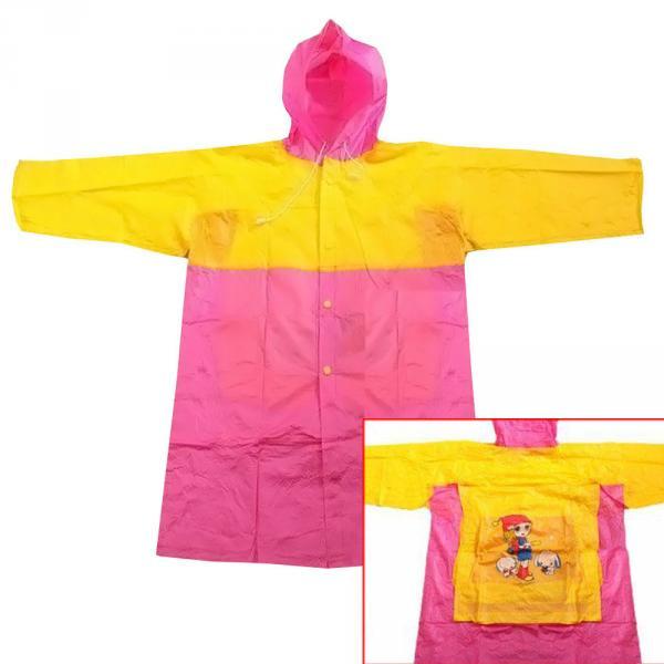 Детский виниловый плащ-дождевик с защитой рюкзака