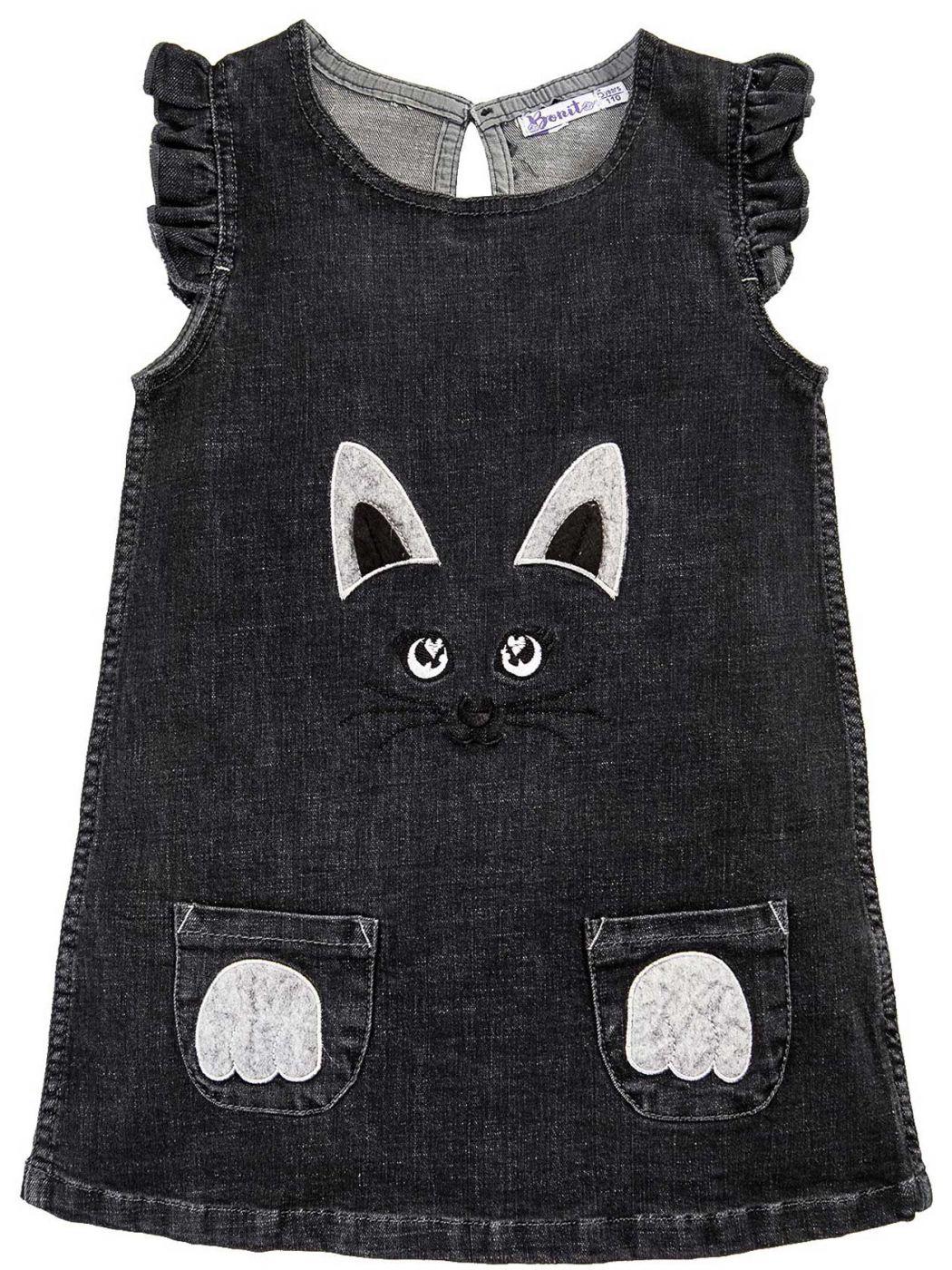 Платье джинсовое для девочек 2-5 лет Bonito BJ768P2