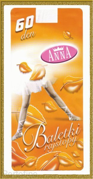 Anna Baletki колготки белые для танцев 60 DEN