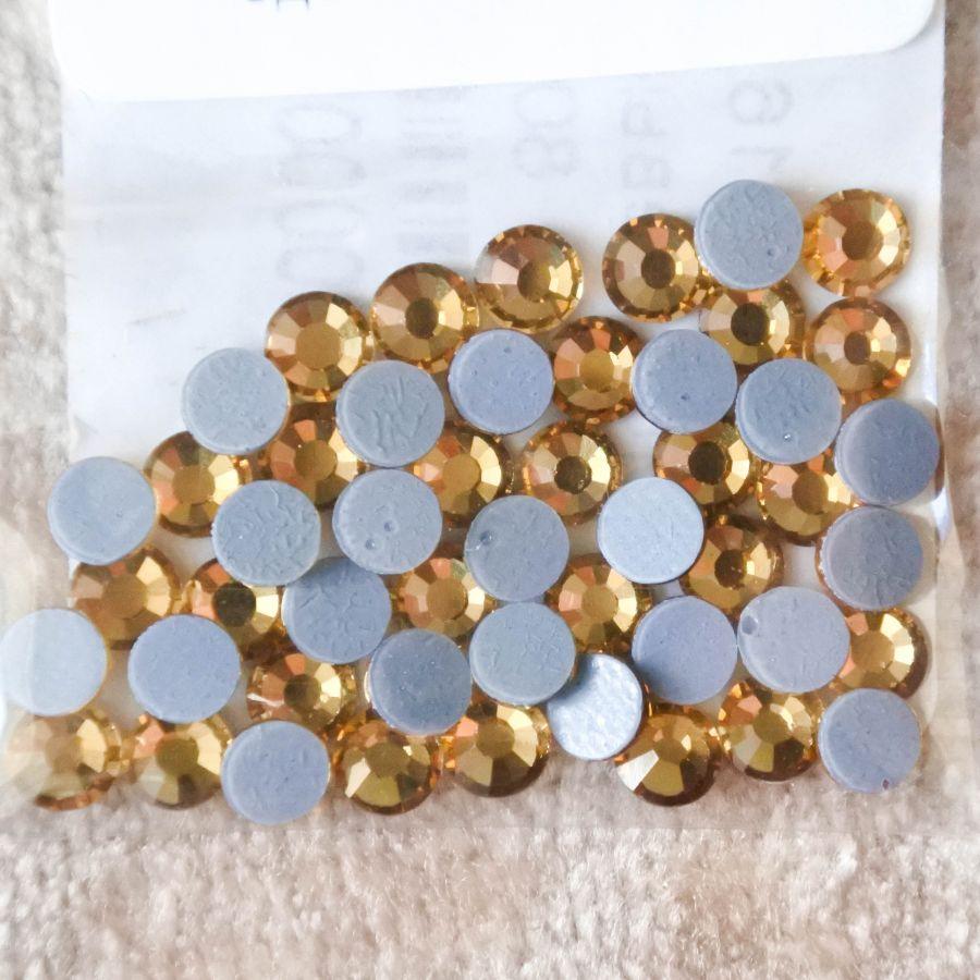 Стразы стеклянные клеевые, цвет Светло-Желтый, SS16, 50 шт/упак