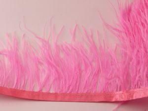 `Перо страуса 7-9 см на тесьме, цвет №010 (1уп = 20 см)