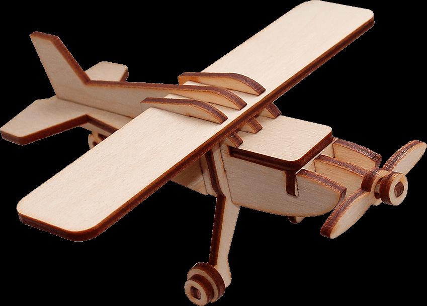 Деревянный конструктор самолет «ЯК-12»