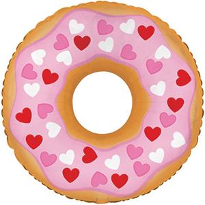Пончик на палочку шар фольгированный