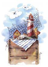 Почтовая открытка Мое море