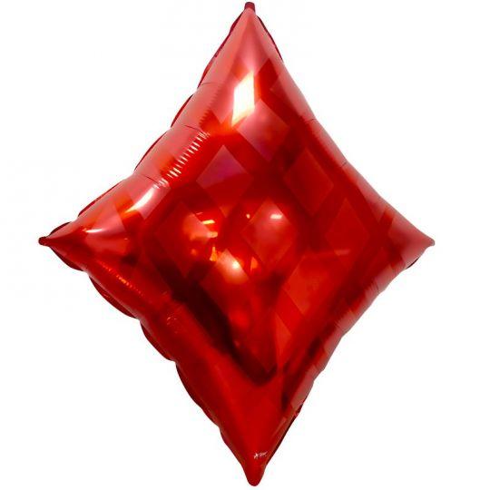Бубны Карточные масти шар фольгированный с гелием