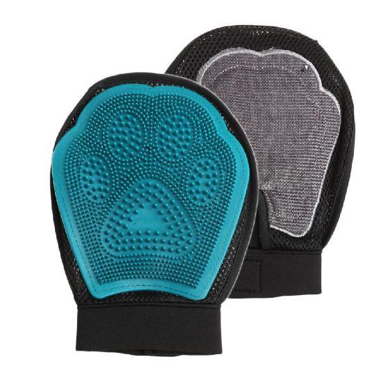 Варежка Для Груминга 3 В 1 Grooming Glove Лапка, Цвет Бирюзовый