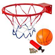 SILAPRO Набор баскетбольный (корзина d32см, насос, мяч d16см, болты для установки), металл, ПВХ