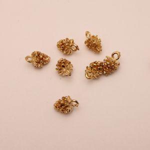 "Подвеска ""Шишка"", цвет золото, размер: 12*7мм (1уп = 10шт), КБС0336"