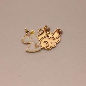 """Подвеска """"Единорог с крыльями"""", цвет: золото, размер: 30*20мм (1уп = 10шт), КБС0340-1"""