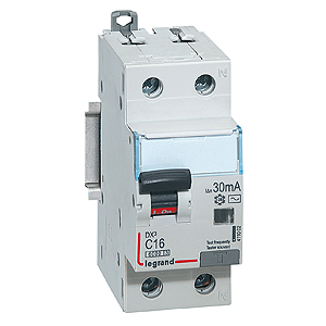411048 Дифф.выключатель (УЗО) DX3 1П+Н C10А 30MA-A, Legrand