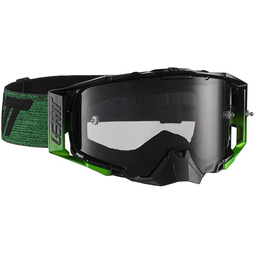 Leatt Velocity 6.5 Black/Green Smoke 28%, очки для мотокросса и эндуро