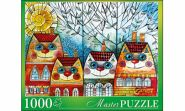 Masterpuzzle. ПАЗЛЫ 1000 элементов. ОКСАНА ЗАИКА. КОТЫ-ДОМИКИ (арт. АЛМП1000-6922)