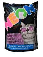 Neon Litter наполнитель силикагель, комкующийся, фиолетовый 1,81 кг