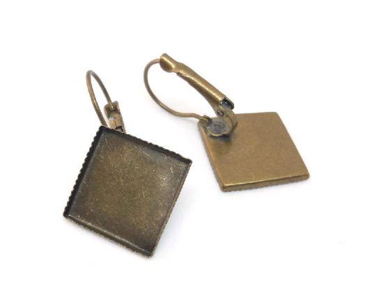 Швензы с французской застежкой и квадратной площадкой, 2 пары/уп.