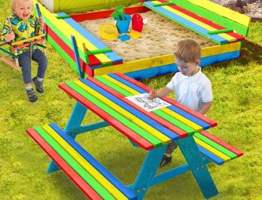 Столик с лавочками для детей