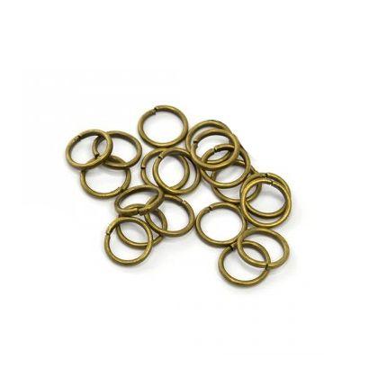 Колечки соединительные, одинарные, бронза, 50 шт/упак.