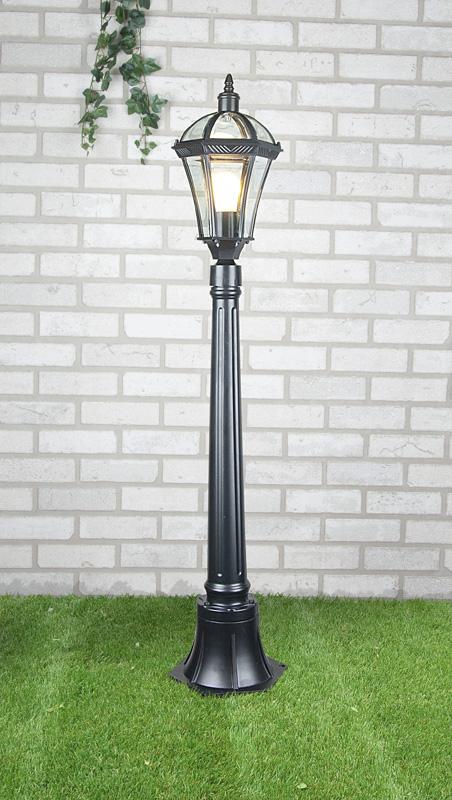 Уличный светильник на столбе Elektrostandard Capella F черный