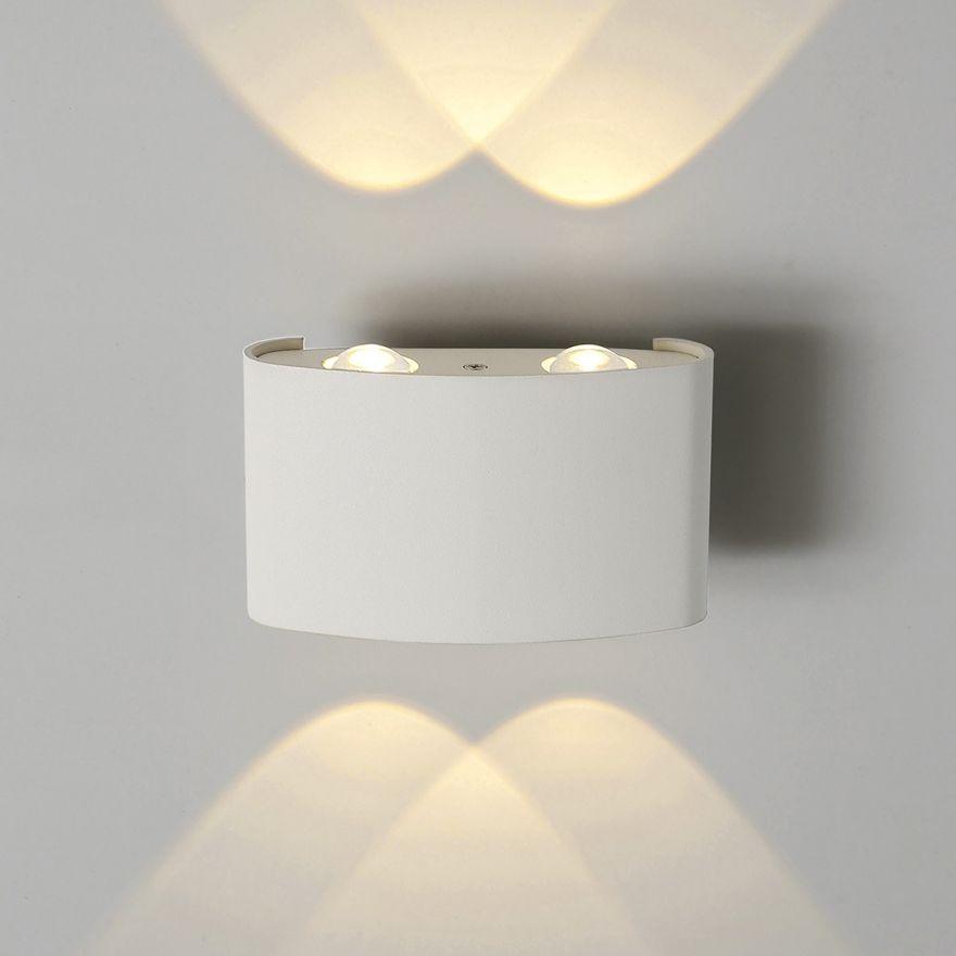 Уличный настенный светодиодный светильник Elektrostandard 1555 TECHNO LED TWINKY DOUBLE белый