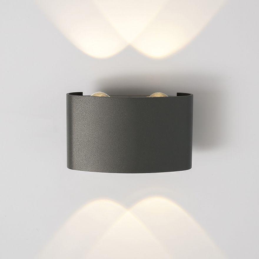 Уличный настенный светодиодный светильник Elektrostandard 1555 TECHNO LED TWINKY DOUBLE серый