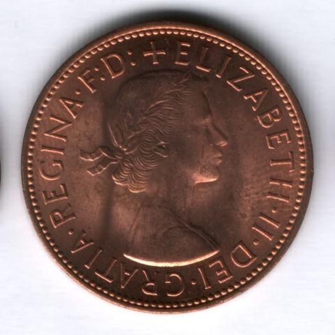 1 пенни 1967 года Великобритания AUNC
