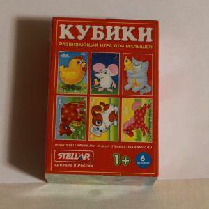 !  кубики дом животные 6шт, ячейка: 8