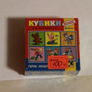 ! кубики мультгерои 4шт, ячейка: 8