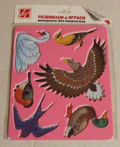 ! трафарет птицы, ячейка: 12
