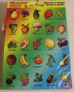 ! фрукты и ягоды,овощи и грибы магнит, ячейка: 14