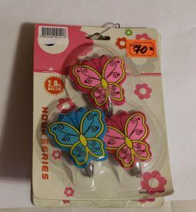 ! набор крючков бабочки 3шт, ячейка: 20
