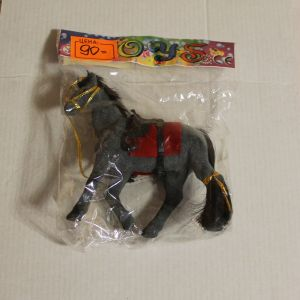 ! лошадь флок 12см, ячейка: 28