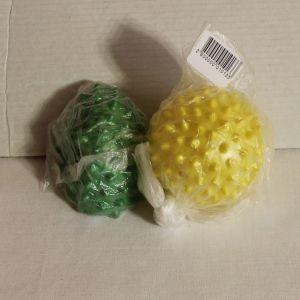 ! мяч массаж зел,желт 7см в ассорт, ячейка: 46