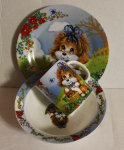! набор посуды фарф собака, ячейка: 47