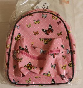 ! рюкзак роз бабочки иск кожа 1отд+карман, ячейка: 48