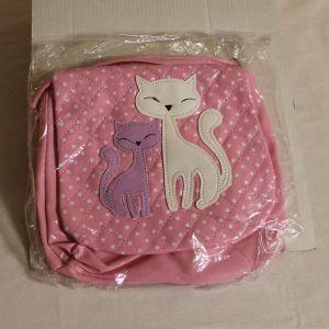 ! сумка детс кошки роз длин руч кожзам, ячейка: 71