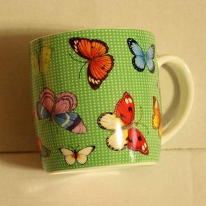 ! кружка бабочки зел 360мл, ячейка: 91