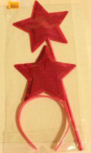 ! набор ободок звезда и палочка малин, ячейка: 95