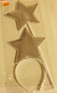 ! набор ободок звезда и палочка сереб, ячейка: 95