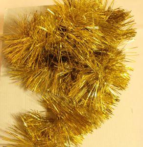 ! мишура 9.5см 150см желт, ячейка: 97