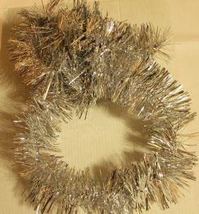 ! мишура 6.5см 150см сереб 3, ячейка: 97