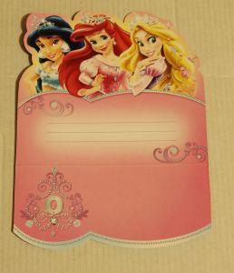 ! приглашение на день рожд принцессы 1, ячейка: 98