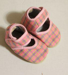 ! детс тапочки-туфельки роз клетка размер 100, ячейка: 141