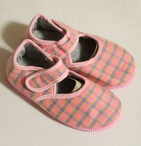 ! детс тапочки-туфельки роз клетка размер 155, ячейка: 141